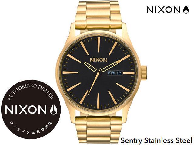 【国内正規品】 ニクソン NIXON Sentry Stainless Steel 42mm All Gold/Black SS センチュリー ステンレス スティール 腕時計 WATCH ウォッチ オールゴールド/ブラック A356510-00 サーフ スポーツ ストリート トラベル 旅行 ウォッチ