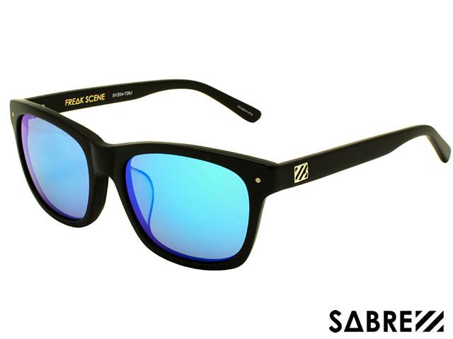 【国内正規品】 セイバー SABRE FREAKSCENE MT BLACK/BLUE MIRROR フリークシーン マット ブラック/ブルー ミラー sv204 サングラス