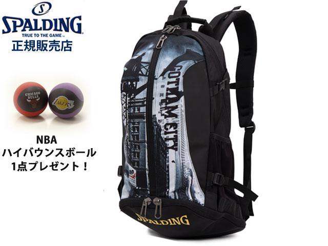【国内正規品】 スポルディング バットマン ゴッサムシティ ケイジャー バックパック バッグ 40-007 バスケットボール コラボアイテム SPALDING CAGER BACKPACK
