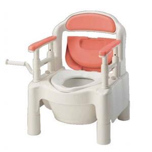 【送料無料】ポータブルトイレFX-CPH アロン化成 4217 暖房便座 ちびくまくん ノーマル ピンク【HLS_DU】