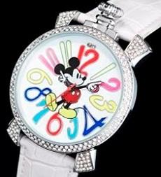 ミッキーファンタジーカラー 時計ミッキー時計誕生77周年!限定2000本。天然ダイヤモンドを2石使用。裏蓋には世界限定を証明するシリアルナンバーを刻印。プレゼントとしては最適!【HLS_DU】P15Aug15
