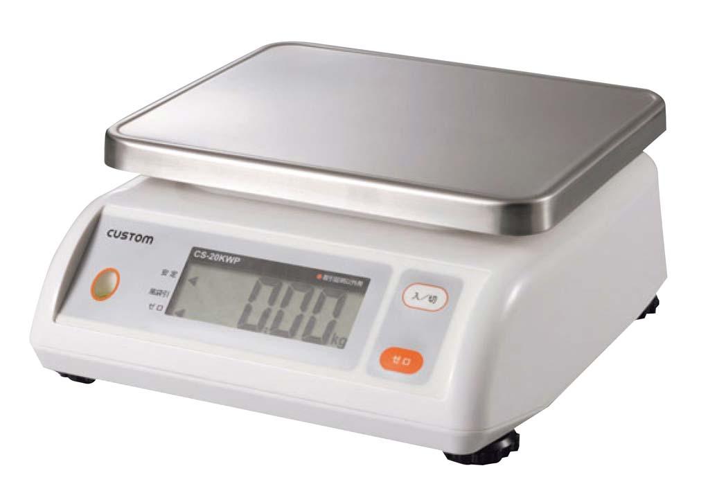 【デジタル防水はかり】【5kgまで】【最小表示:2g単位】【風袋付き】CS-5000WP ステンレス皿取外し可能 カスタム デジタル表示 使いやすい 見やすい 濡れれも大丈夫 業務用 量り 計り 計量