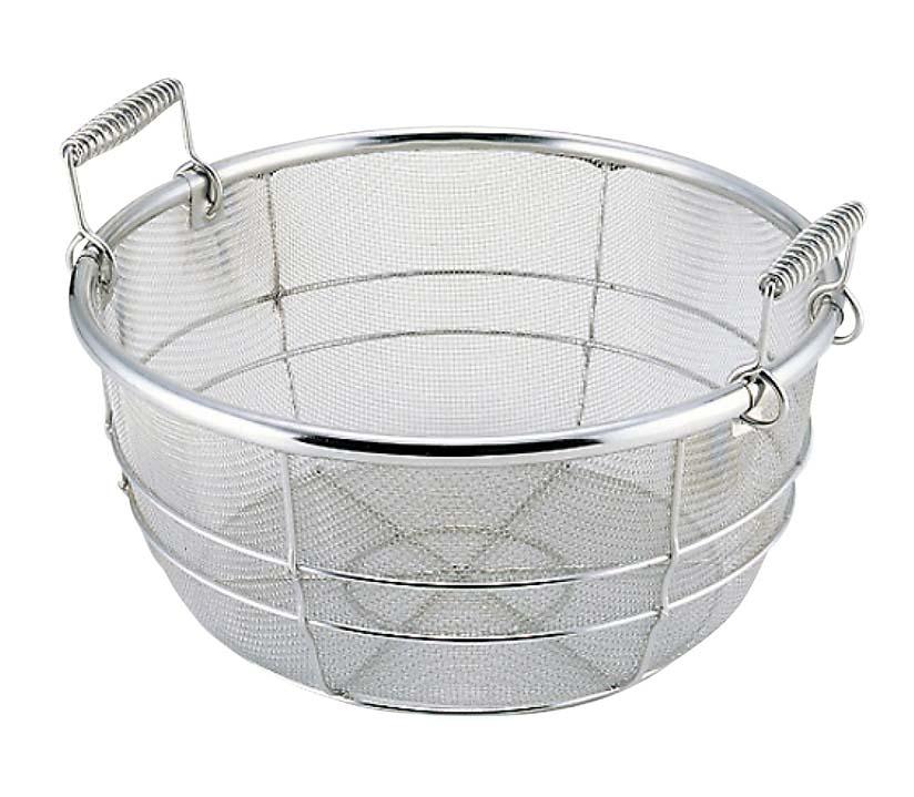 18-8 業務用 料理鍋用 揚げザル(手付)サイズ42cm用