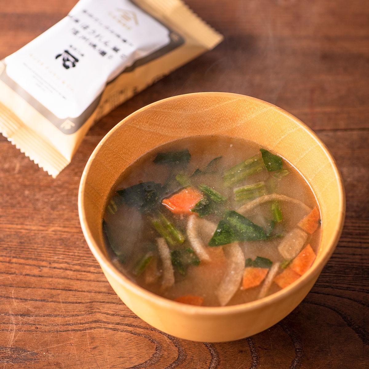 超激安特価 出荷 信州味噌を使用したお米の甘みが広がる お味噌汁 毎日だしのお味噌汁 国産ほうれん草と信州味噌 1食