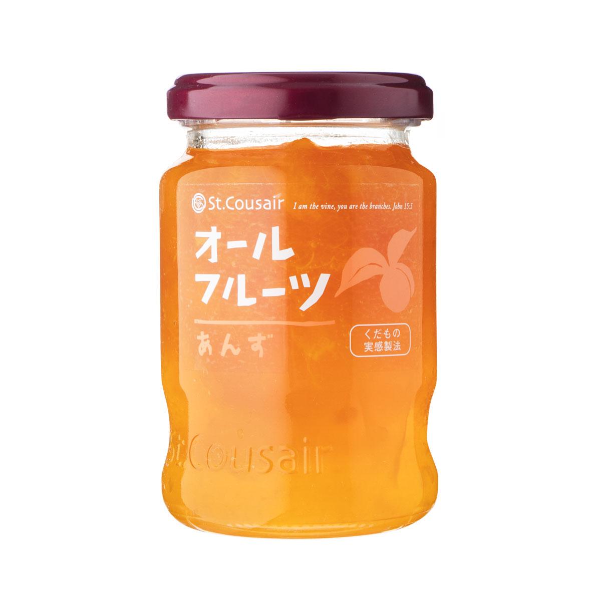 あんずのとろりとした食感と酸味、コクが一体となったジャム。 【サンクゼール】オールフルーツ あんず 185g J-1968
