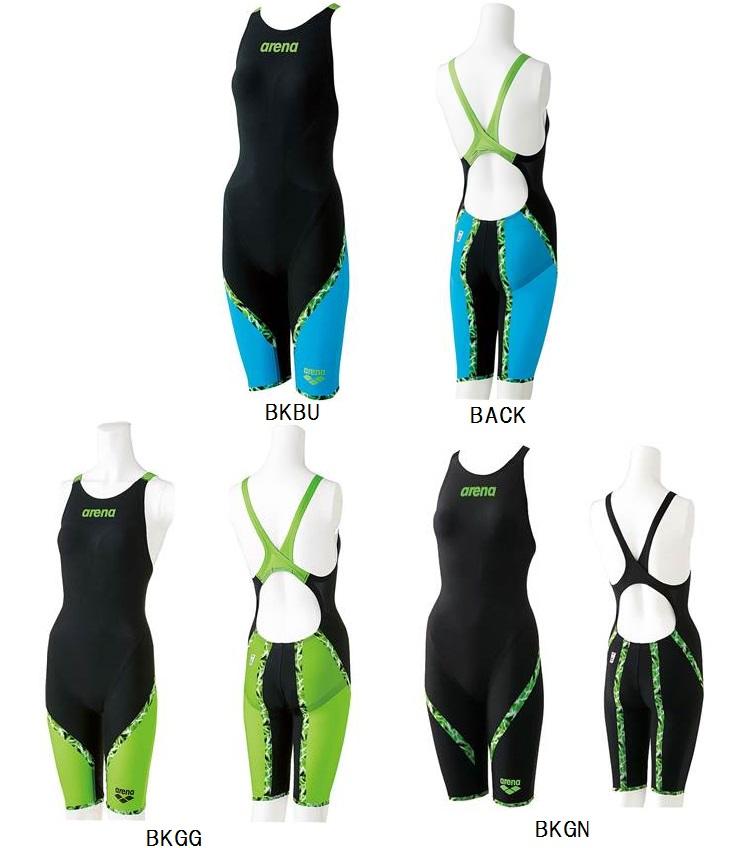 40%OFF 在庫限り! アリーナ【arena】 レディース ハーフスパッツフラットクロスバック 競泳水着 アクアフォースシリーズ FINA承認 ARN6000W BKBU/BKGG/BKGN