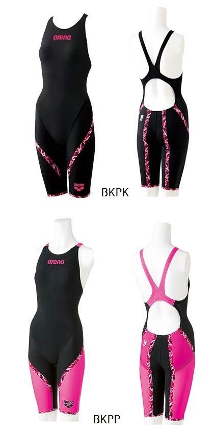 40%OFF 在庫限り! アリーナ【arena】 レディース ハーフスパッツフラットクロスバック 競泳水着 アクアフォースシリーズ FINA承認 ARN6002W BKPK/BKPP