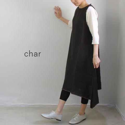 【クーポン対象外】 □□char(チャー) 赤耳リネンダブルガーゼ・チュニックmade in japan ch-064d299-1-a