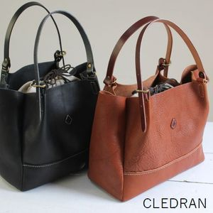 【クーポン対象外】 【最後の1点です】 CLEDRAN (クレドラン)the craft factorvTUCK SLANT TOTE M 2colormade in Japan cl-2293