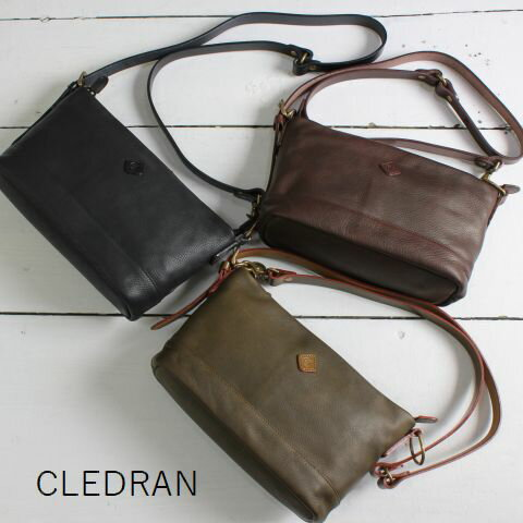【最後の1点です】  CLEDRAN (クレドラン)GLOU SERIES2WAY POSHETE 3colormade in Japan cl-1987-e
