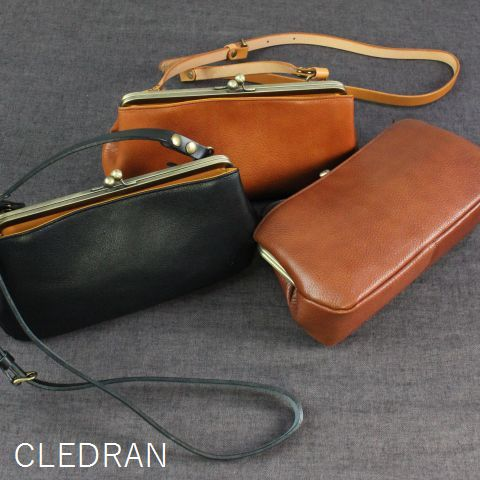 CLEDRAN (クレドラン)NOM SERIES2WAY POCHETTE 3colormade in japancl-2542-c
