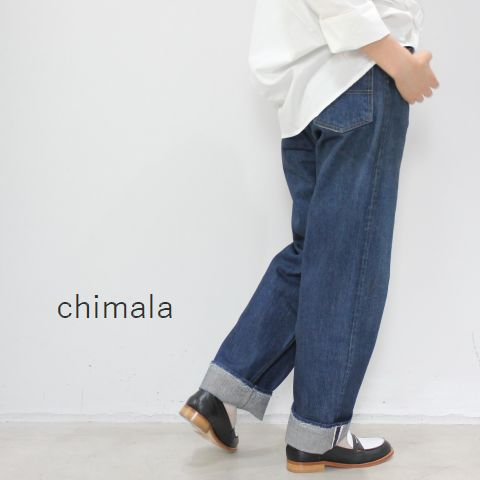 【 30%OFF SALE 】  chimala(チマラ)13.5OZ SELVEDGE DENIM5POCKET WORK DENIMmade in Japan cs24-mp06a■■