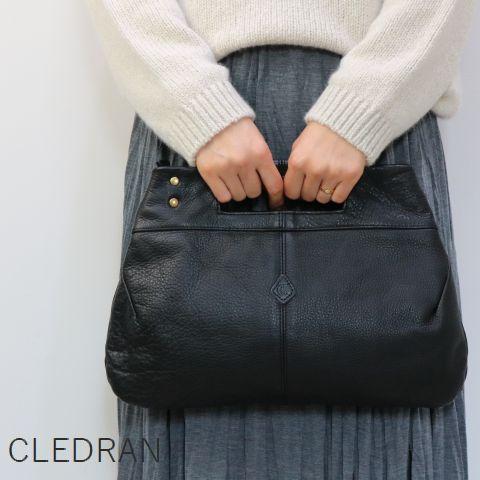 【クーポン対象外】 【最後の1点です】 CLEDRAN (クレドラン)DOU SERIES2WAY BAG made in japancl-2721
