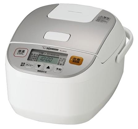 【zr】 象印 マイコン炊飯ジャー 5.5合炊き ホワイト NL-DA10-WA