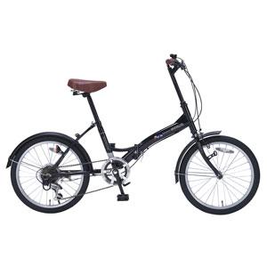 My Pallas マイパラス 折りたたみ自転車 20インチ 6段変速 M-209-BK (色 ブラック) 自転車 折り畳みタイプ
