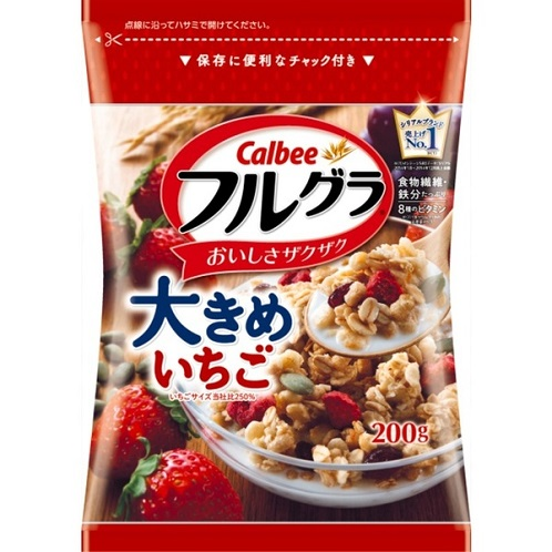 The expiration date: May 15, 2017 カルビーフルグラ size grain strawberry (200 g)