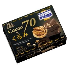 保质期:2017年6月森永制果可可70*核桃装箱(45g)巧克力