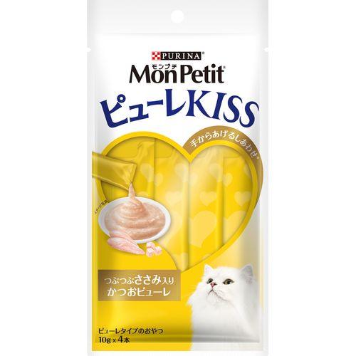 【訳あり】 ネスレ日本 モンプチ ピューレキッス つぶつぶささみ入り かつおピューレ (40g)