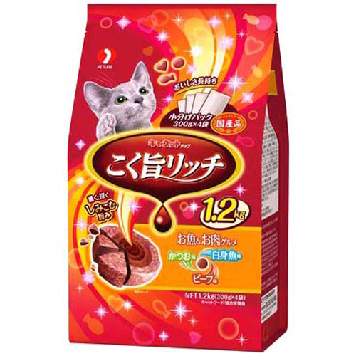 【J】 キャネットチップ こく旨リッチ お魚&お肉グルメ 1.2kg (300g×4袋)