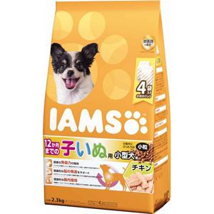 J 誕生日 お祝い マース アイムス 12か月までの子いぬ用 小型犬用 チキン味 ドッグフード 着後レビューで 送料無料 ドライフード 小粒 2.3kg