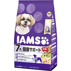 J マース アイムス 7歳以上用 健康サポート 中粒 2.6kg ドライフード ドッグフード 上品 送料無料新品 チキン味