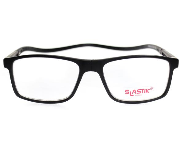 【SLASTIK】 EWOK / シニアグラス【1.0、1.5、2.0、2.5、3.0、3.5】おしゃれ シンプル リーディンググラス 老眼鏡 TR90 軽量フレーム 首掛けメンズ 男性 ギフト 誕生日 ブラック 黒
