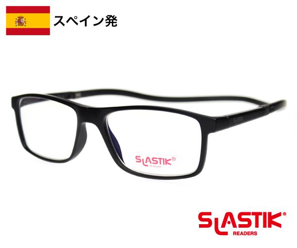 SLASTIK EWOK シニアグラス 1.0-1.5-2.0-2.5-3.0-3.5 老眼鏡 おしゃれ メンズ シンプル リーディンググラス TR90 軽量フレーム 首掛けメンズ ブラック 黒 送料無料