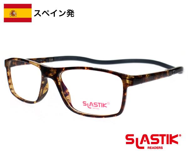 【SLASTIK】 EWOK / おしゃれ リーディンググラス TR90 軽量フレーム メンズ 男性 シンプル デミブラウン