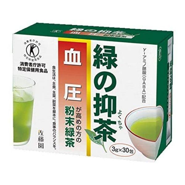 トクホのお茶 大好評です 健康茶 粉末緑茶 特定保健用食品 店内限界値引き中&セルフラッピング無料 取り寄せ商品A 血圧 佐藤園 3g×30包 緑の抑茶