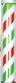 喜田 K-3633 サインポール レッド×グリーン 取り寄せ商品B