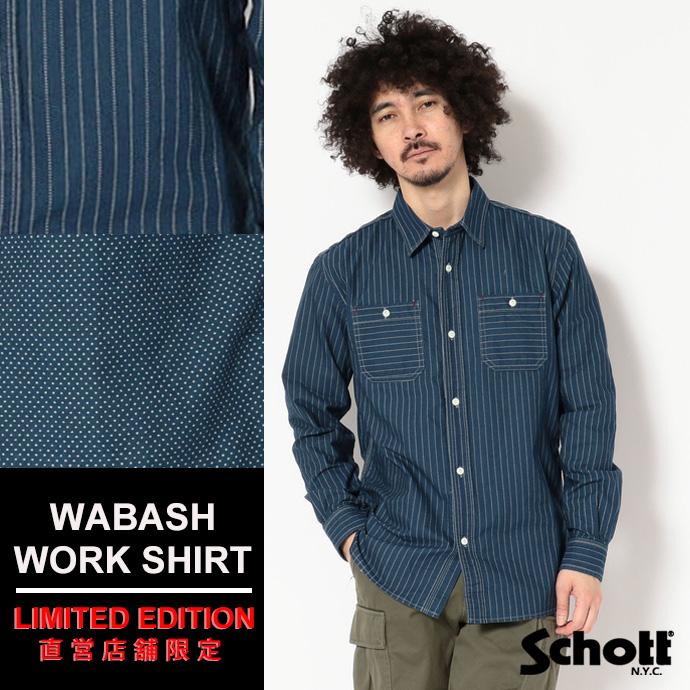 Schott/ショット 公式通販・直営店限定 | Shott/ショット/WABASH WORK SHIRT/ウォバッシュ ワークシャツ