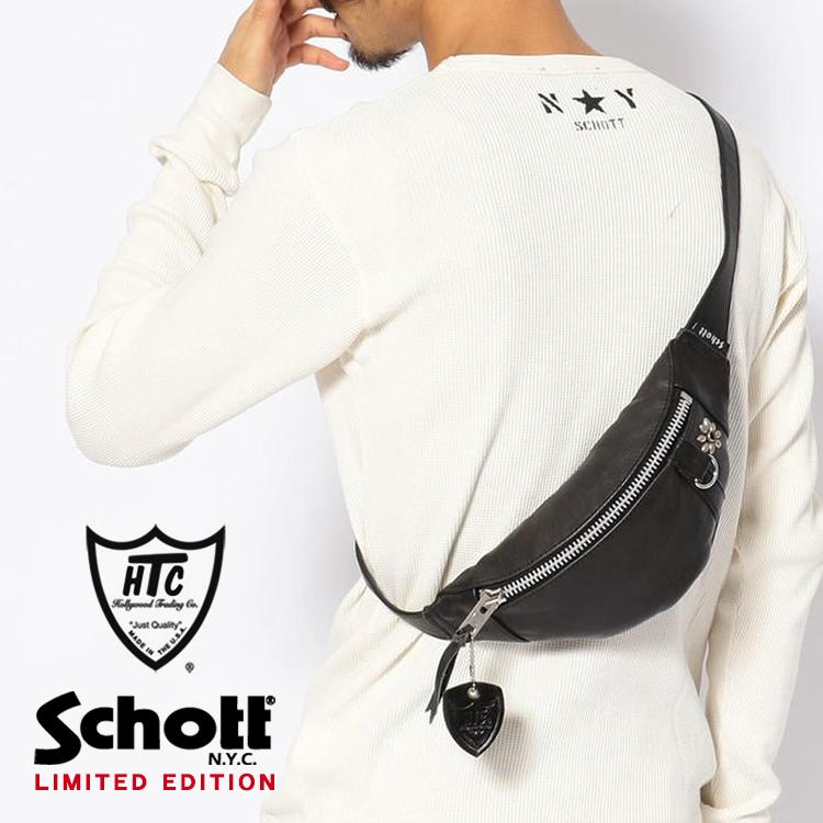 Schott/ショット 公式通販 | 【直営店限定】Schott×HTC/ショット/SMALL BODY BAG/スモール ボディーバッグ【送料無料】レザーバッグ 限定 ボディバッグ