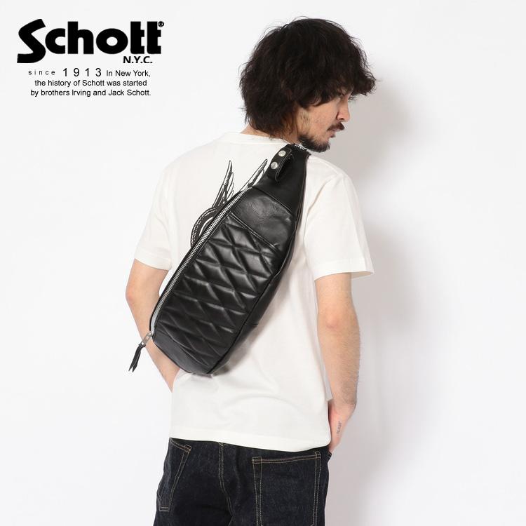Schott/ショット 公式通販 | PADDED BODY BAG LARGE/パデッド ボディー バッグ【送料無料】