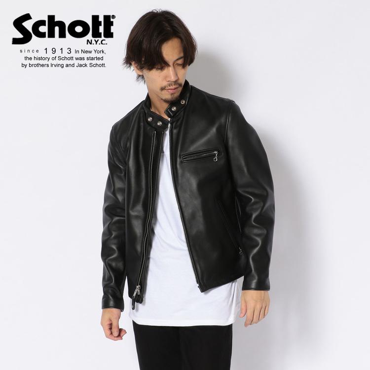 Schott/ショット 公式通販 | 定番シングルライダース アメリカ製 脱着可能なファーライニングベスト付き 641RIDERS/シングルスタンドライダース 本革 牛革