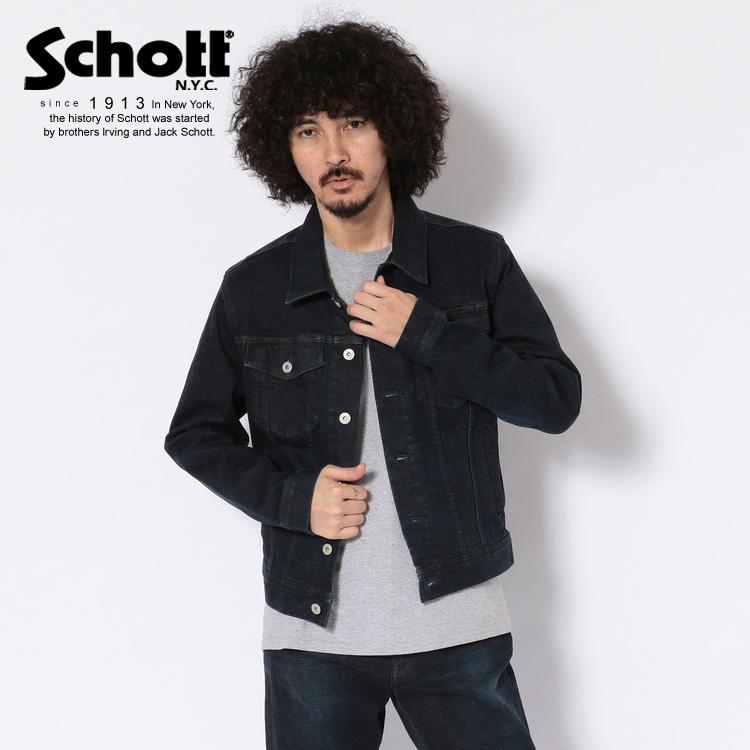 Schott/ショット 公式通販・直営店限定 | STRETCH INDIGO DENIM JACKET/ストレッチ インディゴ デニムジャケット Gジャン ジージャン
