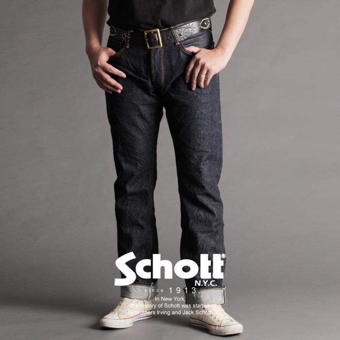Schott/ショット 公式通販   ナローフィットデニム ジーパン13oz JEANS Narrow Fit