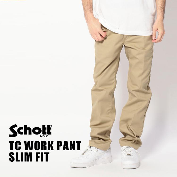 Schott/ショット 公式通販 | SCHOTTショットT/C WORK PANT SLIMスリム ワーク パンツ