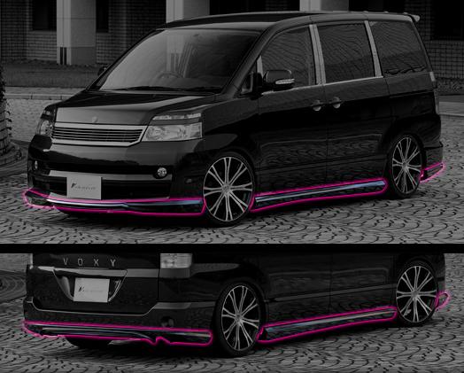 シュテルトジャパン schtelt japan TOYOTA トヨタ VOXY 60系 標準ボディー エアロパーツ 3Pセット A0463
