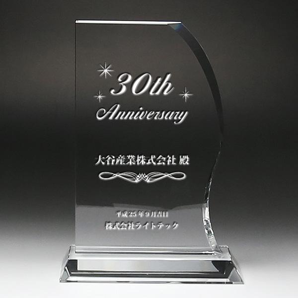 盾 クリスタル 表彰 記念 楯 DP-11 サンド彫刻無料 感謝状 記念品 周年記念 創立記念 退職記念 お祝い 名入れ プレゼント 還暦 喜寿 金婚式 銀婚式 イベント ギフト