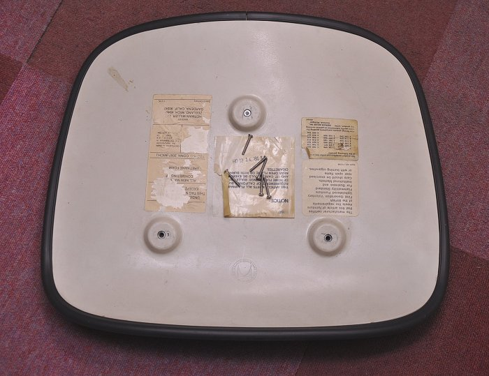Eames model DCM for chair seat back rear of one bolt