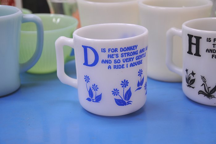 To sell Atlas kids Mag donkey's D is for Donkey child mug HazelAtlas