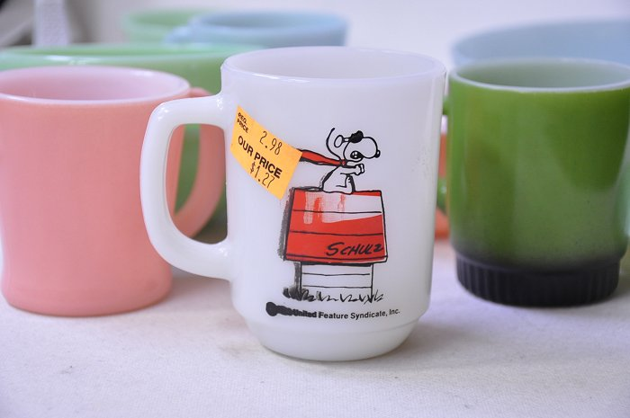 Fire King Snoopy Mug Is Rare Perfection Of The Red Baron Misprint Free Fireking Red Baron