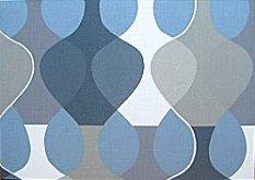Scandinavian wall panel Malaga Mona Bjork design size M blue