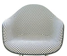 Use of washing and stretching finished product (Eames washing and stretching) scoops custom Eames arm shell black checker fabric Alexander ジラルド ALEXANDER GIRARD eames washing and stretching of the Eames chair