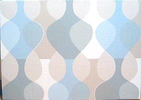 【送料無料】 北欧 ウォール・パネル マラガMona Bjork design 【Malaga 】 サイズLMonacoBlue (薄い水色系カラー)