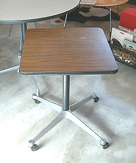 Eames Herman Miller Square Side Table Contract And Castor Based Herman  Miller Eames