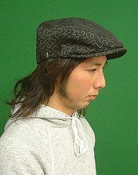 Hunting Cap with a black swirl Herman Miller fabrics