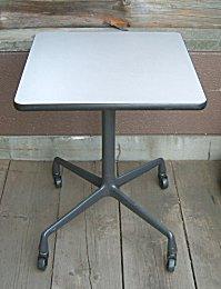 Eames Square Side Table Aluminum Castor Based Herman Miller Eames