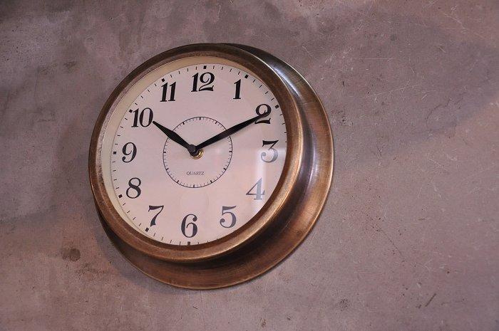 You like brass work clock wall clock brass