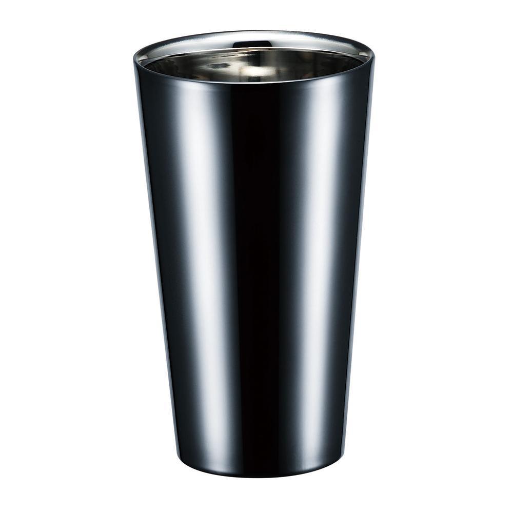 BRILLIANT BLACK ブリリアント・ブラック 2重ストレートカップ 270mL SCW-14B 深みのある黒染め。